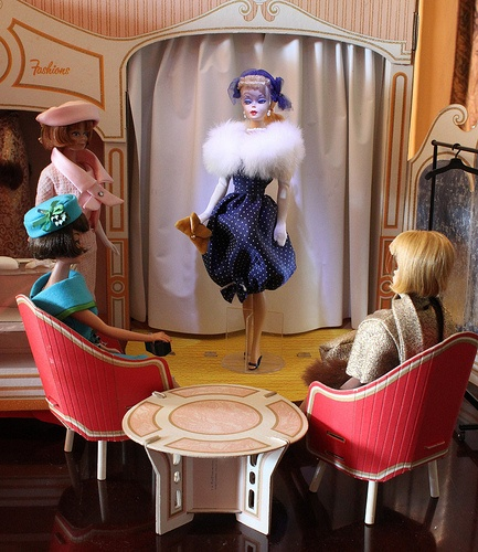 Vintage Barbie Fashion Shop. I had this and would shine a flashlight on stage.