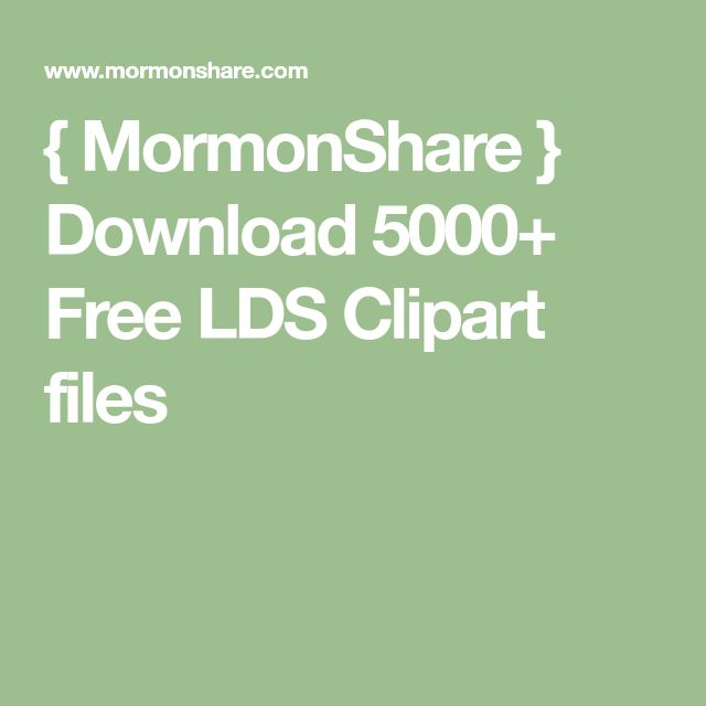 MormonShare  Download 5000 Free LDS Clipart files