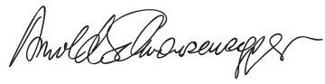 Arnold Schwarzenegger Signature - Arnold Schwarzenegger – Wikipédia