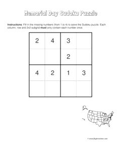 Memorial Day sudoku puzzle with a picture of a map of the United States. 4 levels of difficulty. Sudoku puzzle changes each time you visit