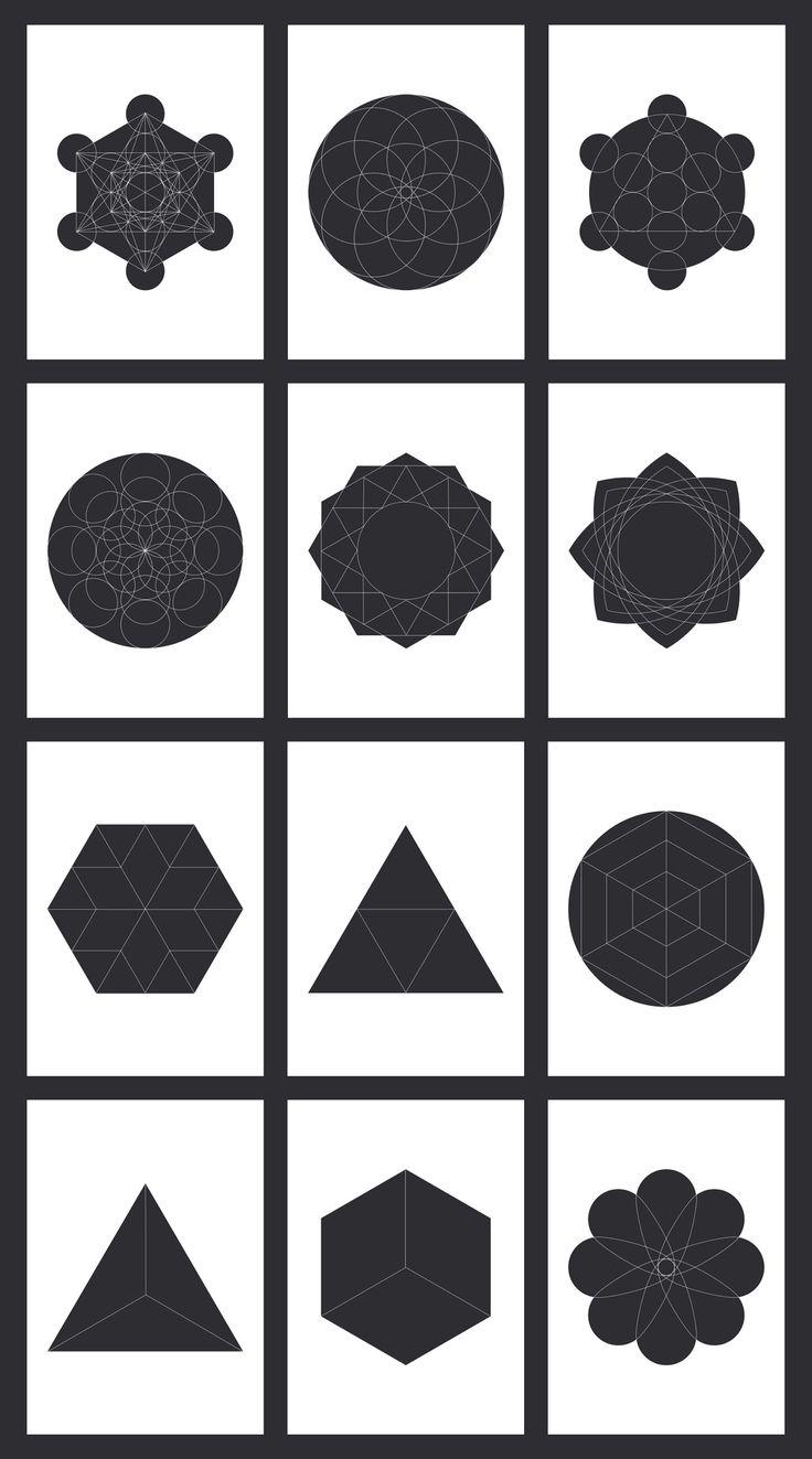 Geometric Photo Mask Set 2 - image | Adobe Stock
