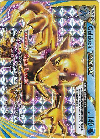 Golduck BREAK 18/122 Pokemon TCG: XY BREAKpoint, Full Art Holo Pokemon Card