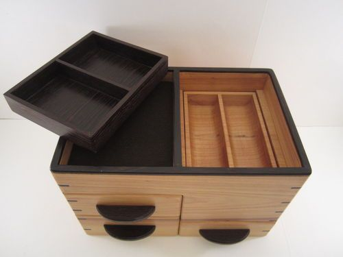 mens valet box with lots of parts