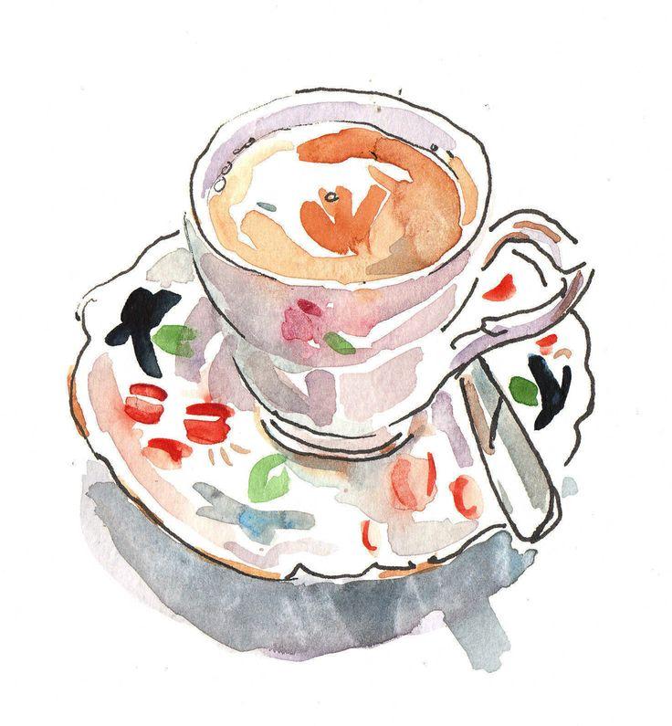 Картинка кофе в чашке иллюстрация