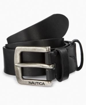 Nautica Kids Belt, Boys Leather Jean Belt Kids BOYS - Boys 8-20 A classic black leather is a simple addition to his casually cool look. More Details