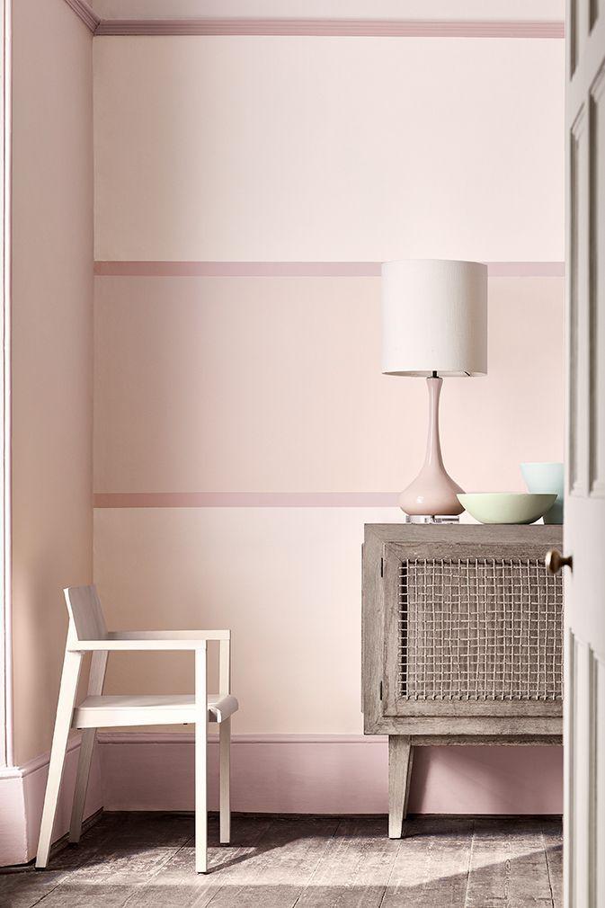 Wall Dorchester Pink Pale 285 Detail Outer Stripe Dorchester Pink 213 Large Inner Stripe Dorchester Pink Deep 287 Farben Und Tapeten Haus Deko Wandfarbe