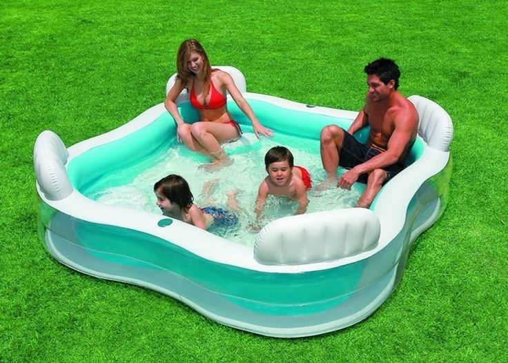 Inflatable Pool Toys with Chairs Seats Portable Family Size Lounger Large Travel #IntexSwim