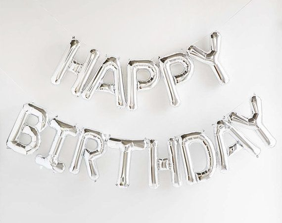 This HAPPY BIRTHDAY balloon garland is the perfect touch to any celebration! The balloons are refillable so you can use them for a really long time
