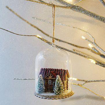 Cloche Ornament - Cabin #westelm