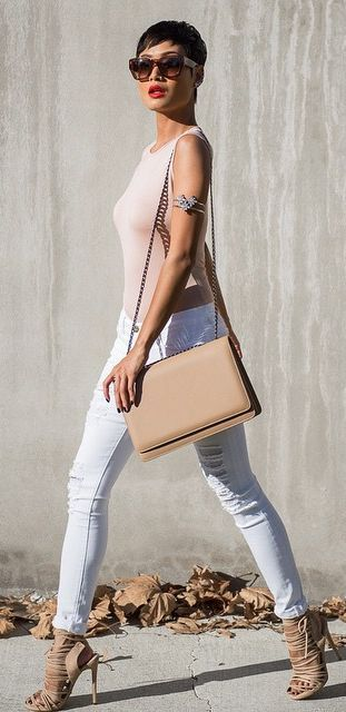 White And Nudes Styling #Fashionistas