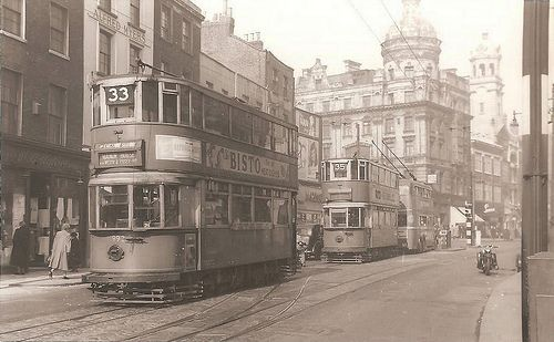 Islington, St John Street 1950's   Kingsway subway tram rout…   Flickr