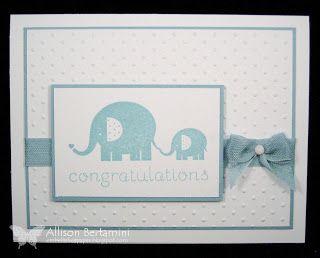 Embellished Paper: Goodbye Baby Steps, stampin up