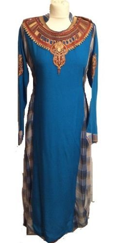 £14.99 ONLY!  Pakistani Long Egyptian Style Kurti With  Embroidery (M)