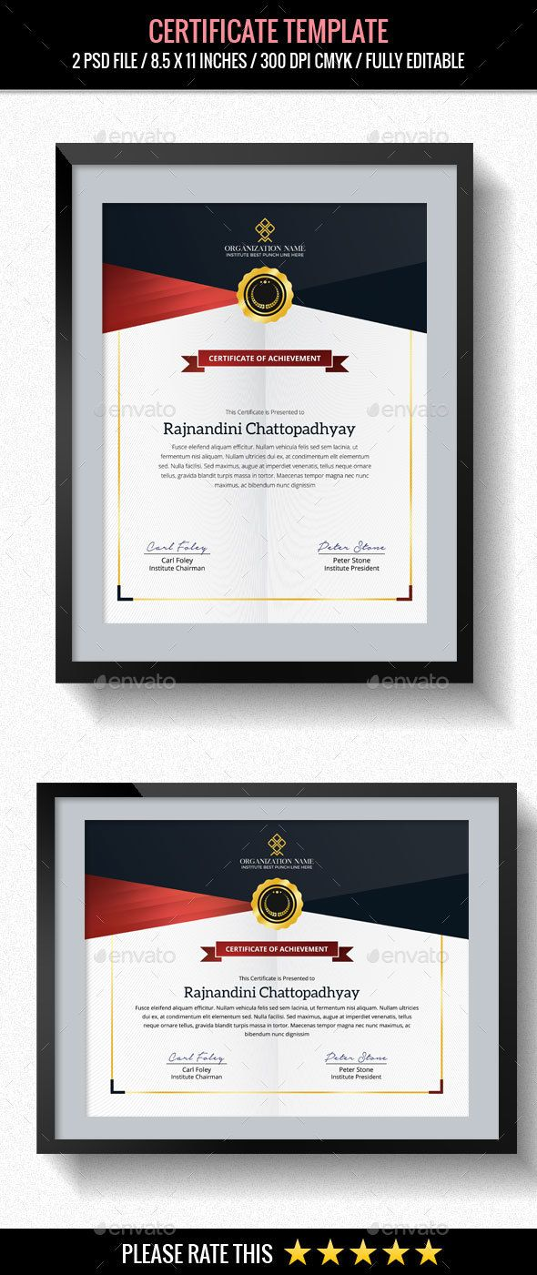 Multipurpose #Certificates Template - Certificates Stationery