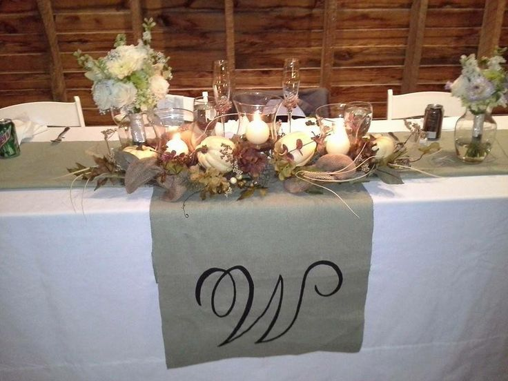 Bride And Grooms Table Ideas!