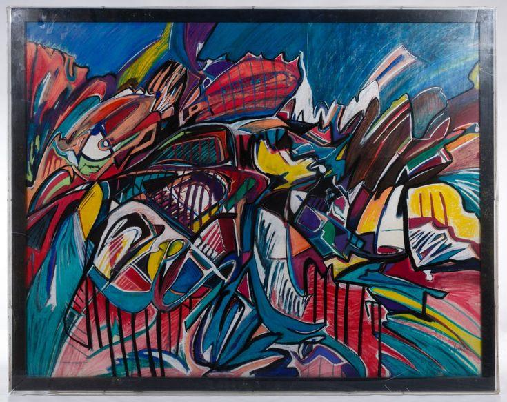 Lot 369 Unknown Artist (American, 20th Century) Pastel On