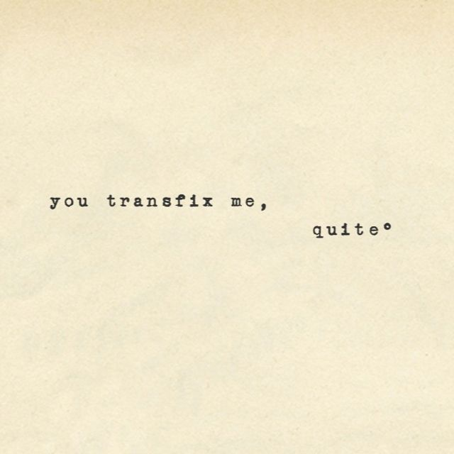 """You transfix me, quite"" - Mr Rochester, Jane Eyre by Charlotte Brontë"