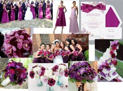 Plum And Champagne Wedding Ideas August Color Weddings Style