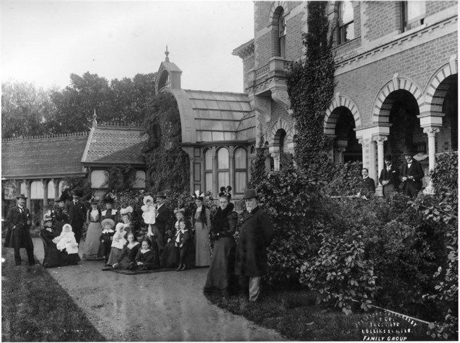 Sargood Family at their house, Rippon Lea, which is one of Australia's most important historic houses.