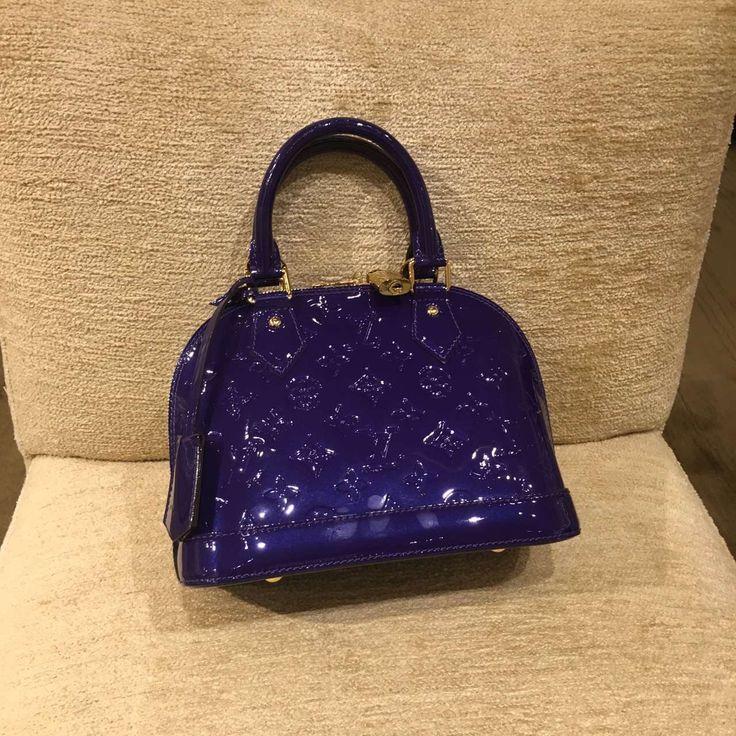 Discount price new color Louis Vuitton alma bag purple at www.luxwomenstore.com #louisvuittonalma