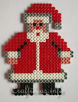 Christmas Crafts for Kids - Fuse Bead Santa Claus
