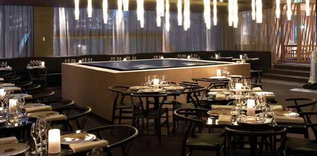 Restaurant water feature designed by h2o designs and buro for Buro restaurant