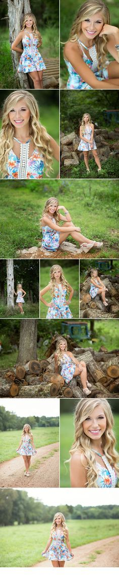 d-Squared Designs St. Louis, MO Senior Photography, Farm senior. Summer dress. Gorgeous senior. Blonde senior. Senior girl posing ideas.