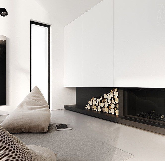 Square set plaster everywhere. No arcs and a shadow line skirt..... Cozy bean bag and a fireplace....thats your minimalist living room sorted thanks to #tamizoarchitects ! #moderninteriordesign #minimalstyle #minimalliving #monochromehome #tamizo #modernarchitecture #interiordesign #scandidesign #scandistyle #livingroomdecor #modernfireplace by neutralinstinct