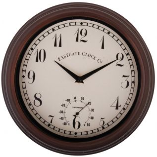 Outdoor Brown Wall Clock with Thermometer Dial --- Quick Info: Price £28.50 Our Outdoor Brown Wall Clock with Thermometer and Dial is a great addition to your garden design. --- Available from Roman at Home. Images Copyright www.romanathome.com