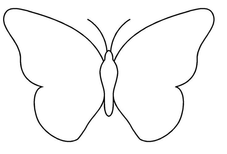 Dessins de papillons a imprimer gabarit pour la barrette bricolage pinterest insectes - Dessin papillon a decouper ...