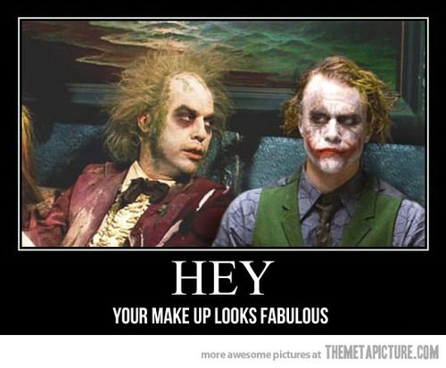 Beetlejuice meets the Joker…  http://quick-meme.tumblr.com