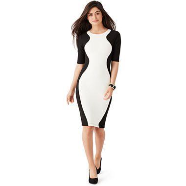jcpenney.com | Bisou Bisou® Elbow-Sleeve Colorblock Dress