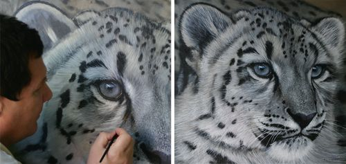 How to paint white tiger fur.brilliant and informative
