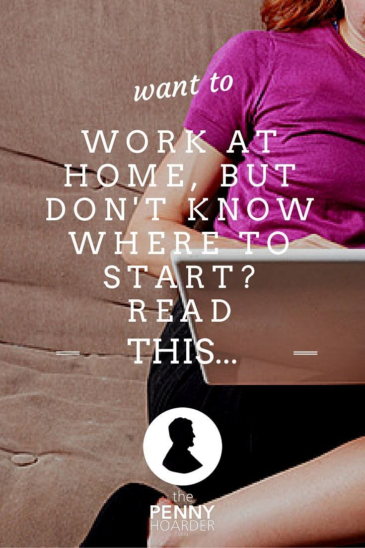 how to get online work at home