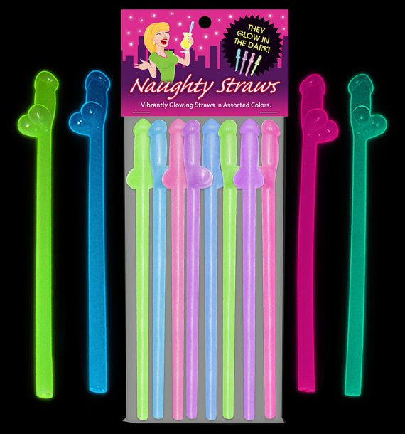 Hey, I found this really awesome Etsy listing at https://www.etsy.com/listing/228808335/8-penis-straws-glow-in-the-dark-adult