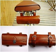 High Quality Comfortable Soft Vintage Bicycle Saddle Tool Bag Tail Bag (Kit)