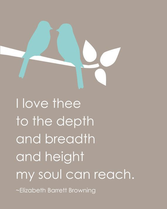 I love you to the depth and breadth and height my soul can reach ~♥~♥~