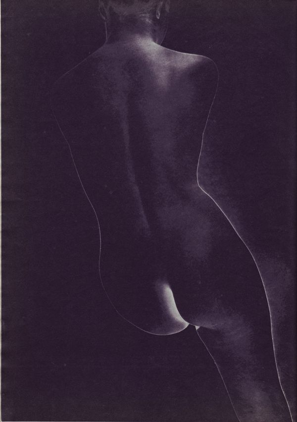 Erwin Blumenfeld's Frozen Emulsion - A negative print from a completely solarized negative