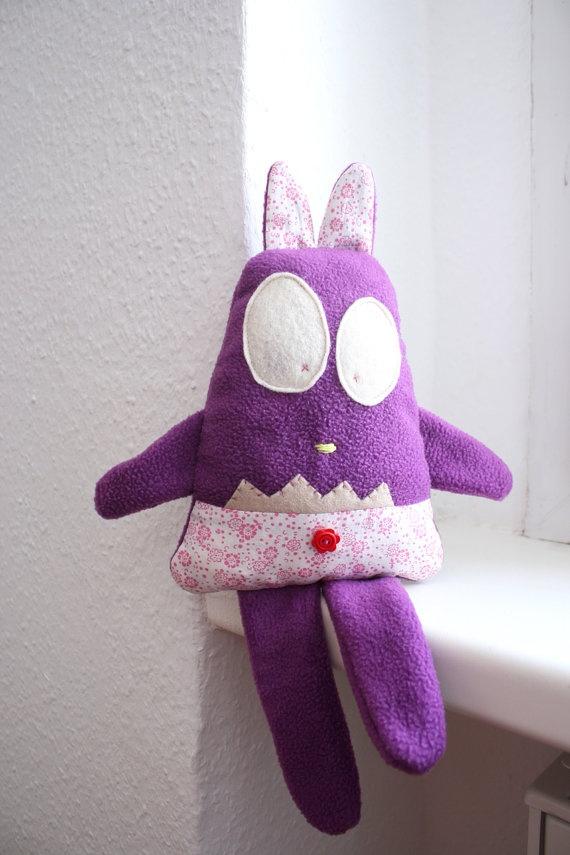 Plush Toy Patty by HappyMonstersLand on Etsy, $25.00