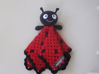 I love this ladybug blankie toy