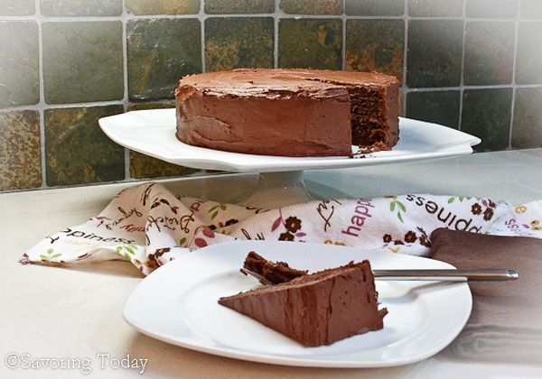 gluten free chocolate cake. Instead of a baking mix I used 1 cup brown rice flour and 1/2 c tapioca starch. Tasted great!