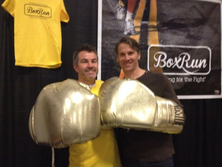Mike Strange and Tim Lefebvre Two great athletes from Niagara Falls. Strange will run 90 marathons in 90 days in 2014.