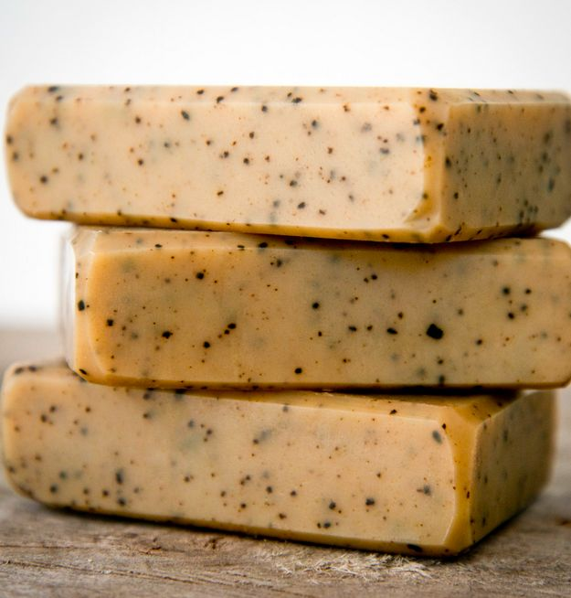 Coffee Goat Milk Soap | Homemade Tanning Soap and Can Help Get Rid Of Cellulite by Pioneer Settler at http://pioneersettler.com/goat-milk-soap/