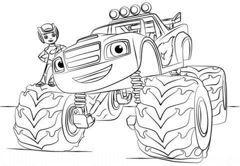 Coloriage Blaze A Imprimer Monster Truck Coloring Pages Monster Coloring Pages Cars Coloring Pages