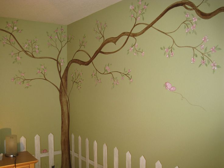 1000 ideas about tree wall painting on pinterest tree for Cherry blossom mural