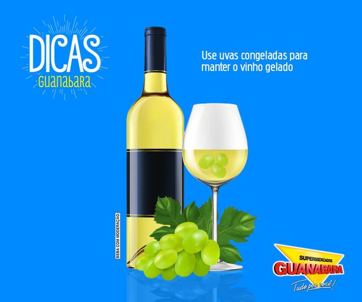 Uvas congeladas para manter o vinho gelado — Supermercados Guanabara
