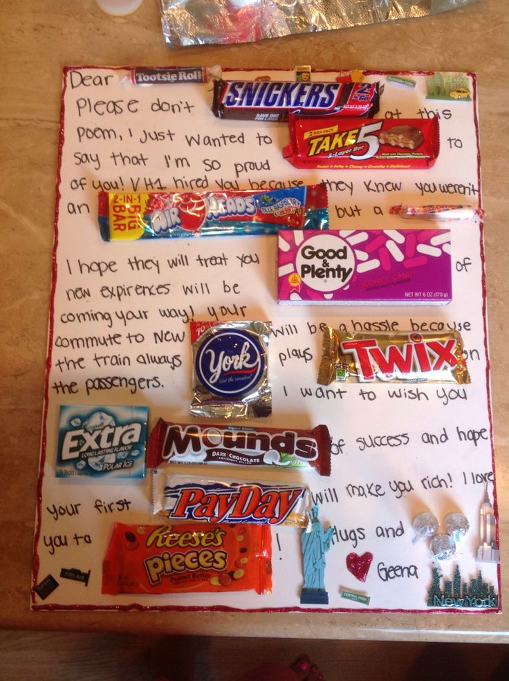 DIY Gift When My Boyfriend Got His First Job In NYC You Need Candy