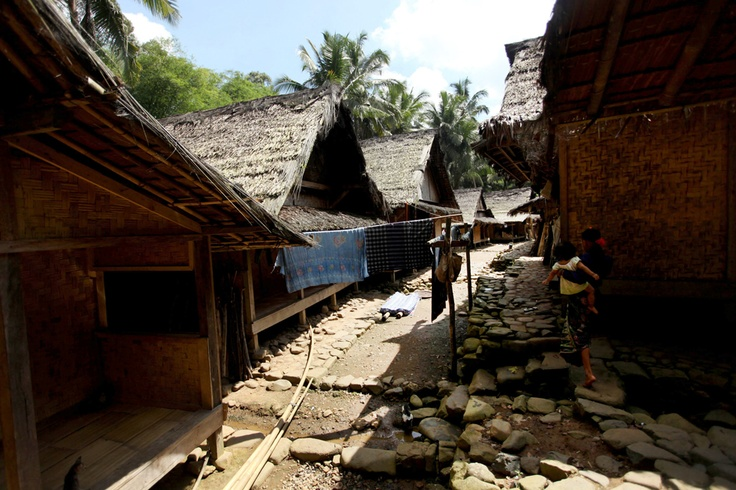 A general view of houses of the traditional Baduy (or Badui) tribe in the hilly forest area of the Kendeng mountains on Feb. 7, in Banten, Indonesia.