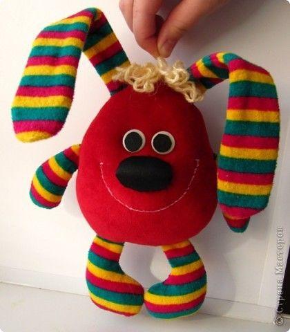 Игрушка Шитьё: Мартовский заяц Ткань. Фото 3