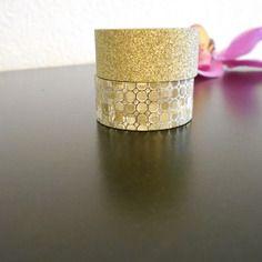 2 rouleau adhésif ,stickers doré pailleté 1.5 mm  x 2.5 mètre